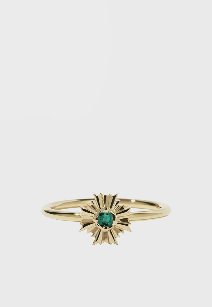 Meadowlark August Stacker With Stone Ring - gold/emerald - Good As Gold