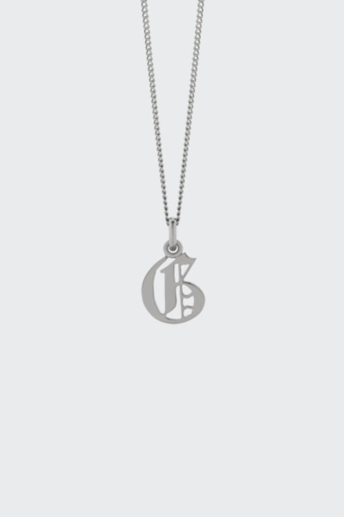 SPECIAL ORDER Small Capital Letter Necklace - silver