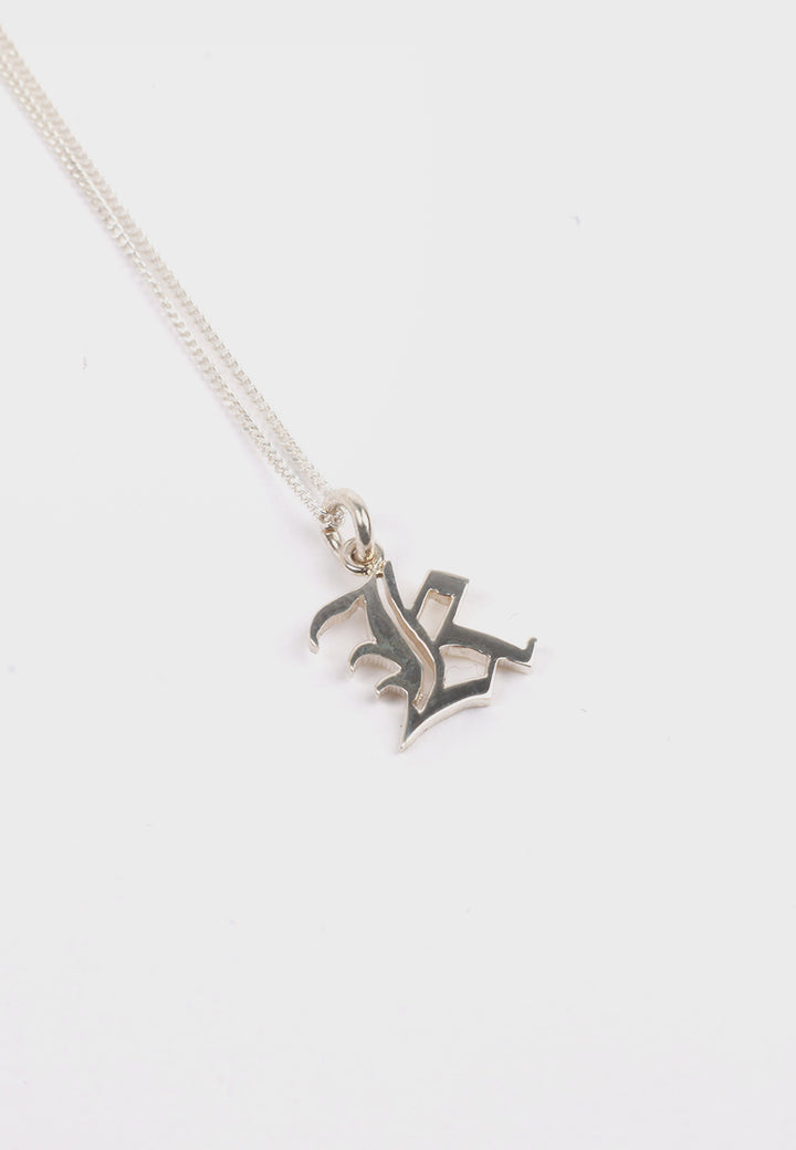 Small Capital Letter Necklace - silver K
