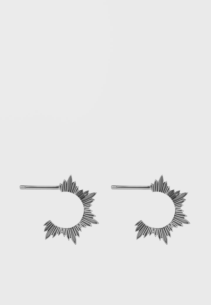 Meadowlark Small Maiden Hoop Earrings - silver - Good As Gold