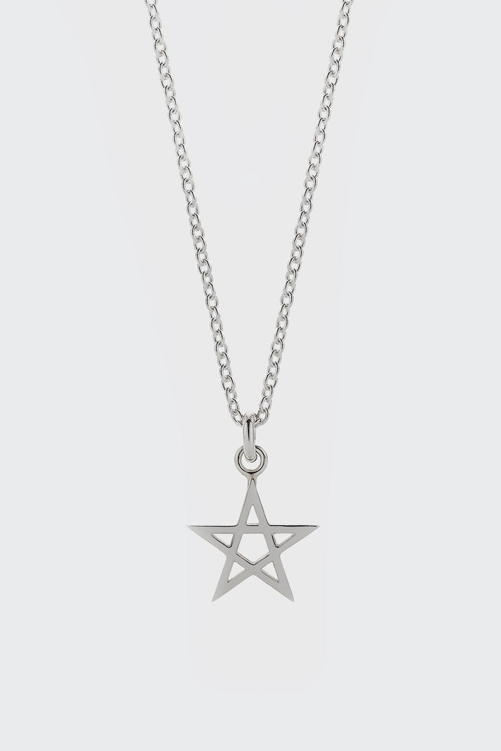 Meadowlark, Pentagram Charm Necklace - silver | GOOD AS GOLD | NZ