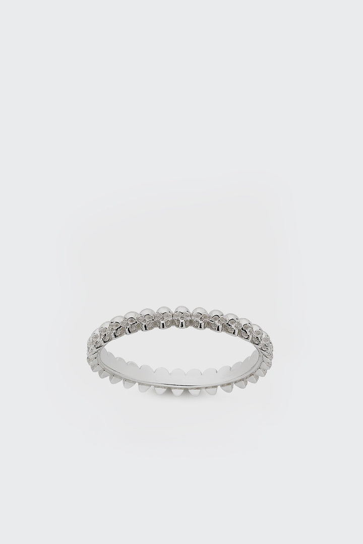 Meadowlark, Skull Stacking Band - silver | GOOD AS GOLD | NZ