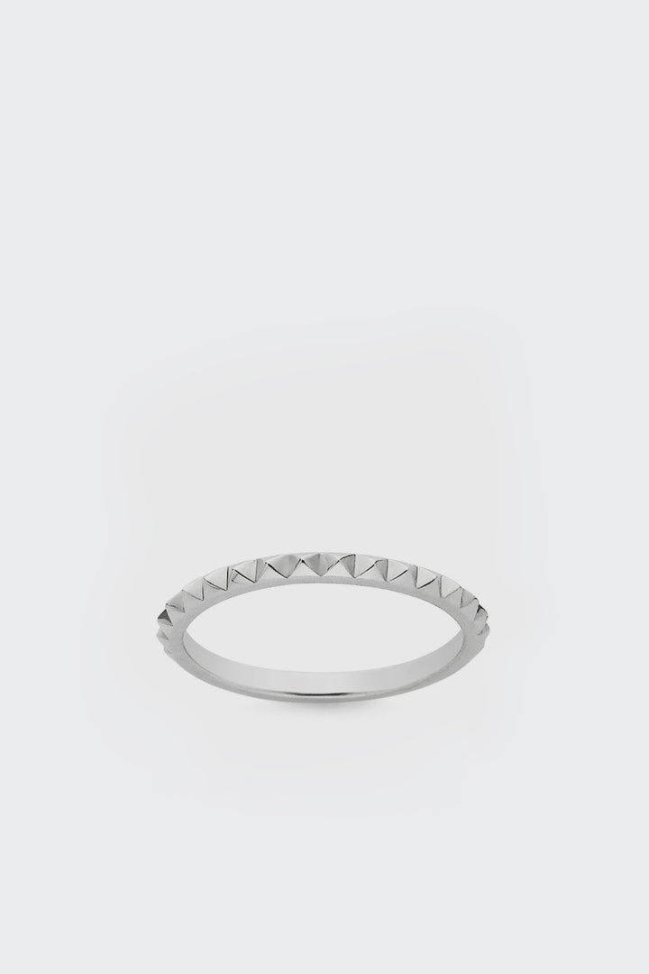 Meadowlark, Fine Studded Stacking Band - silver | GOOD AS GOLD | NZ