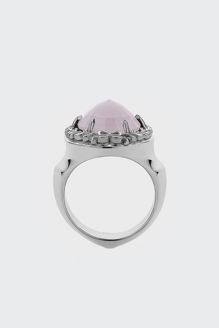 Meadowlark, Wreath Cocktail Ring - silver/rose quartz | GOOD AS GOLD | NZ