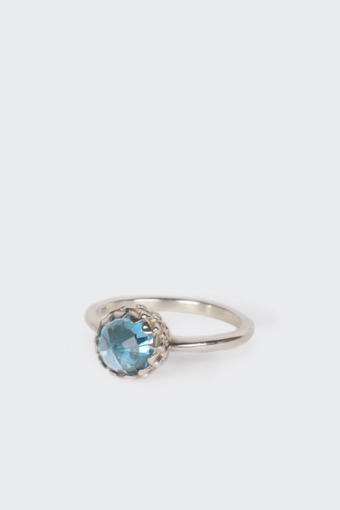 Meadowlark, Mini Protea Ring, blue topaz | GOOD AS GOLD | NZ