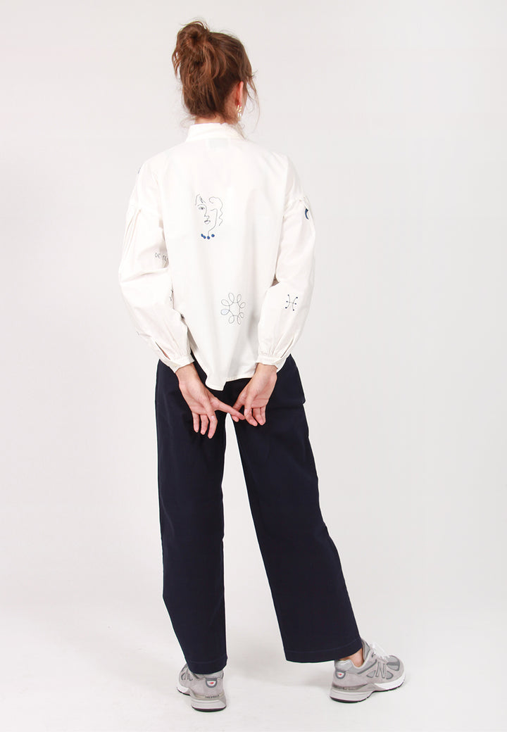 Poppy Cut Shirt - paper hilma embroidery