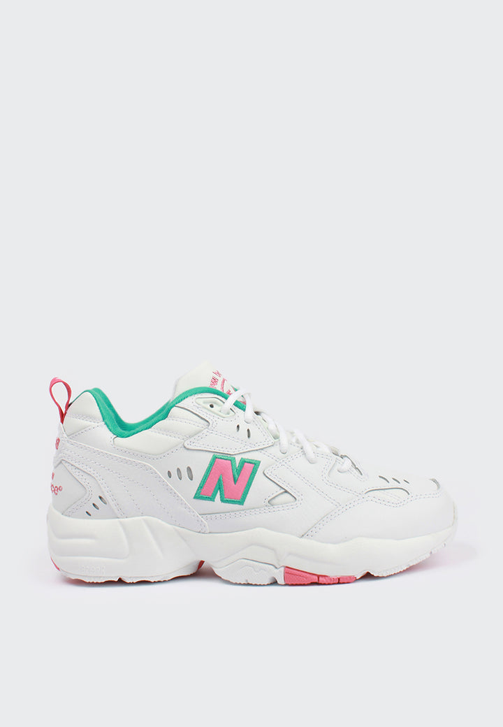 New Balance Womens x608 - white/pink/teal