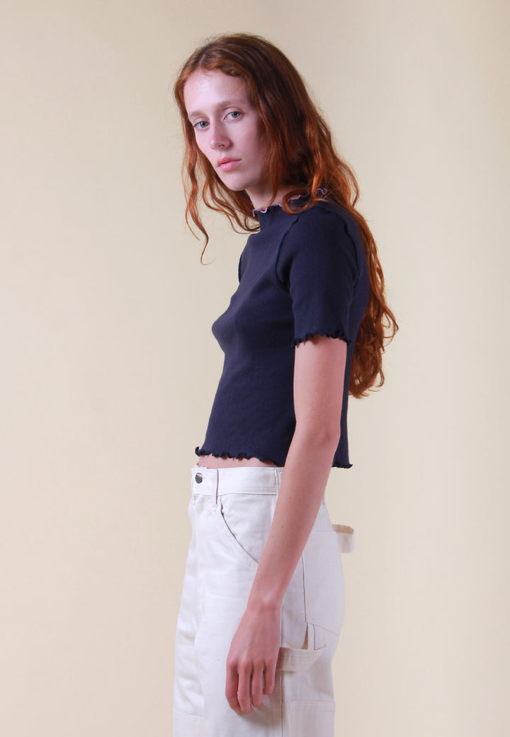 Waves Edges Dolce Vita T-Shirt - navy