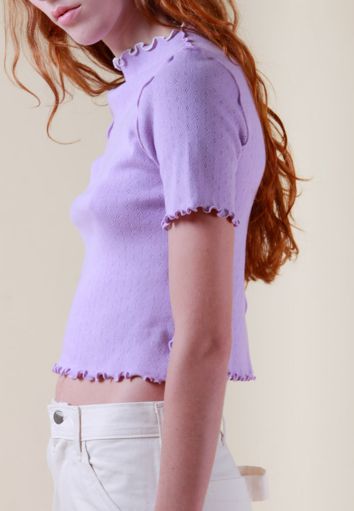 Wave Edges Dolce Vita T-Shirt - viola