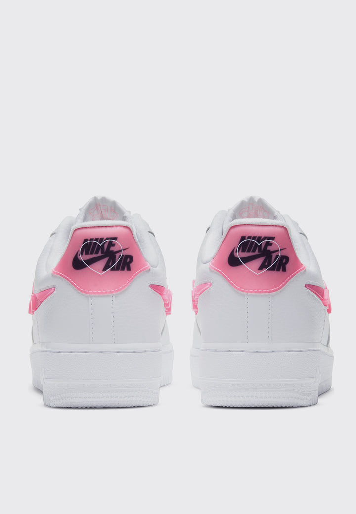 Womens Air Force 1 '07 SE Love For All - white/sunset/pulse black/clear