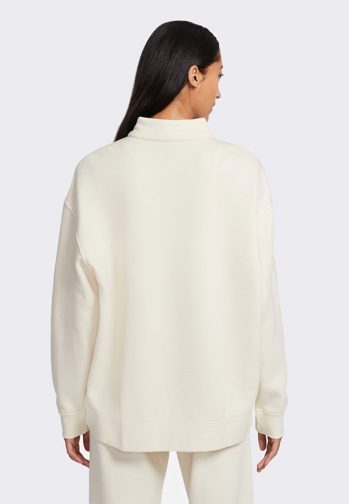 Womens NSW 1/4 Zip Fleece - coconut milk/white