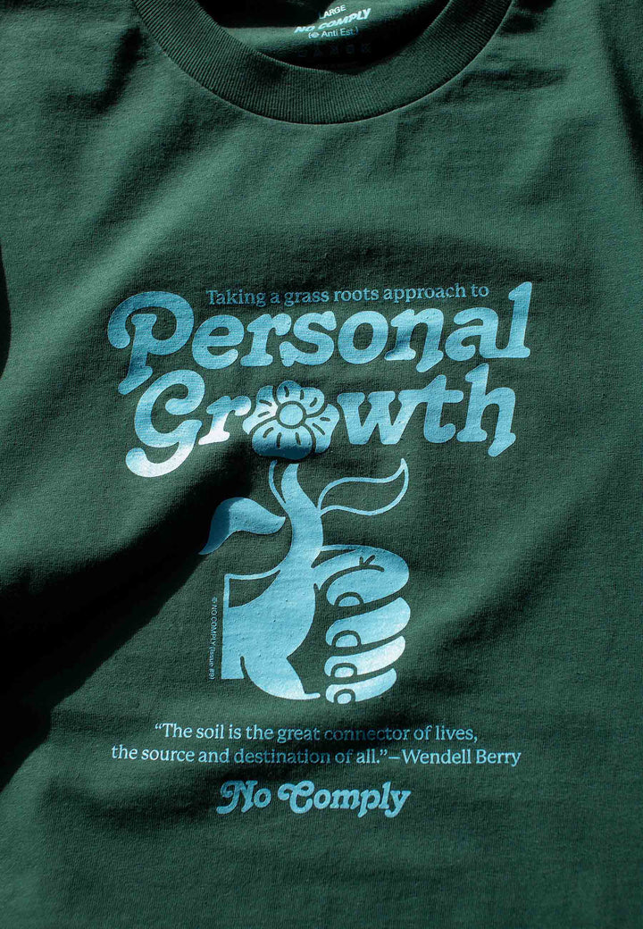 Personal Growth T-Shirt - forest green/blue