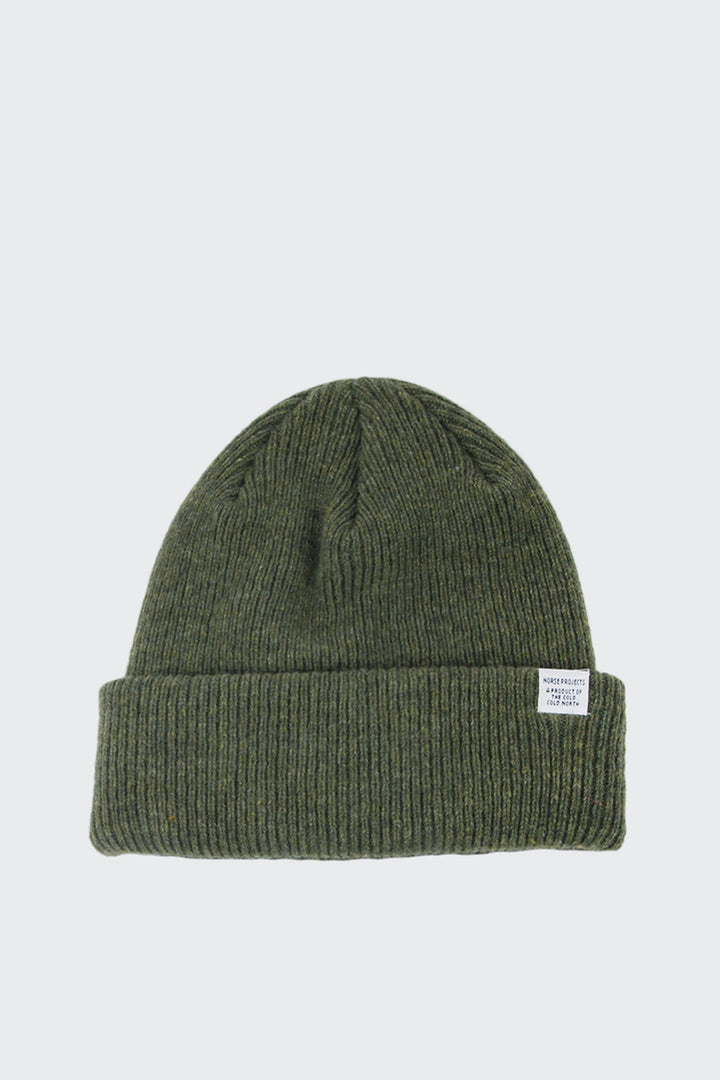 Norse Projects Norse Beanie - dried olive | GOOD AS GOLD | NZ