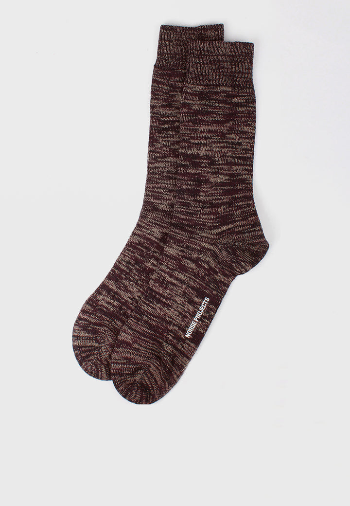 Norse Projects Bjarki Blend Socks - ritteri purple - Good As Gold