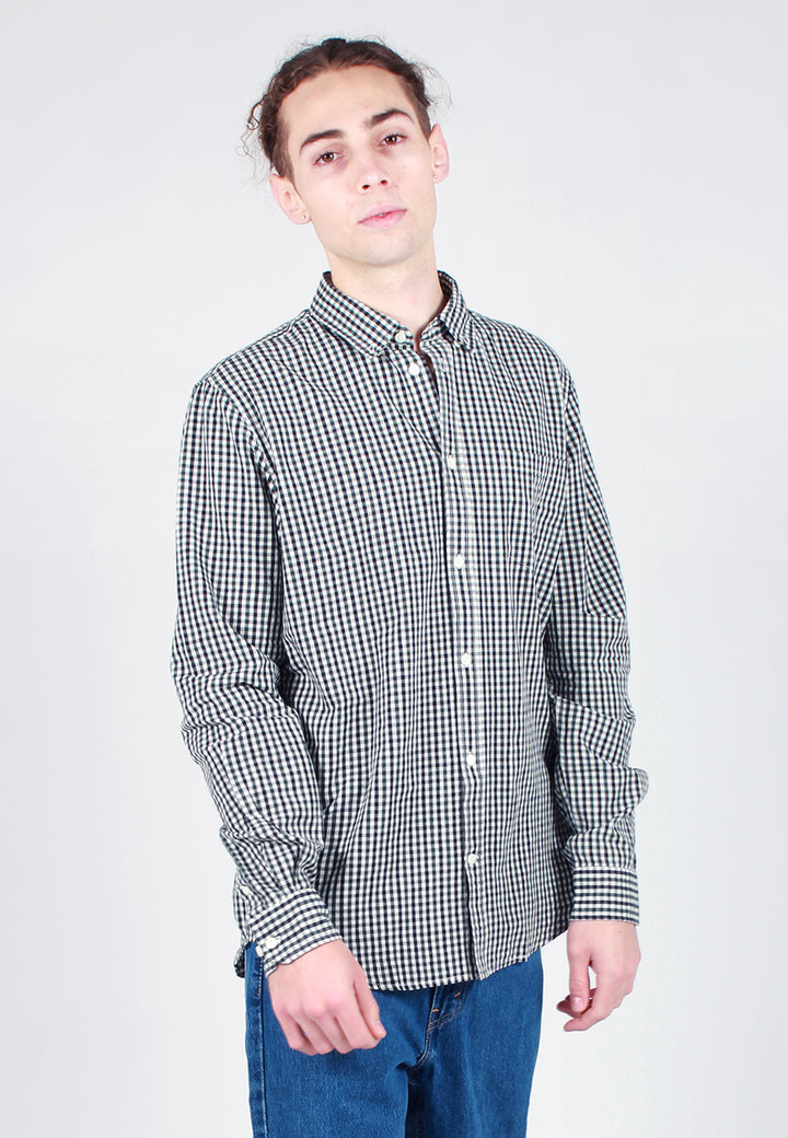 Norse Projects Osvald Gingham Shirt - dark navy - Good As Gold