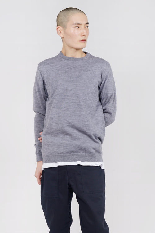 Norse Projects Sigfred Light Merino Sweater - charcoal — Good as Gold