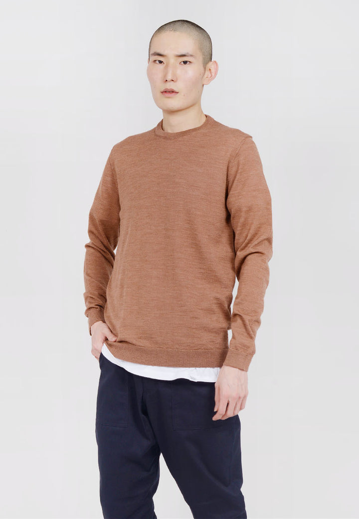 Norse Projects Sigfred Light Merino Sweater - russet — Good as Gold
