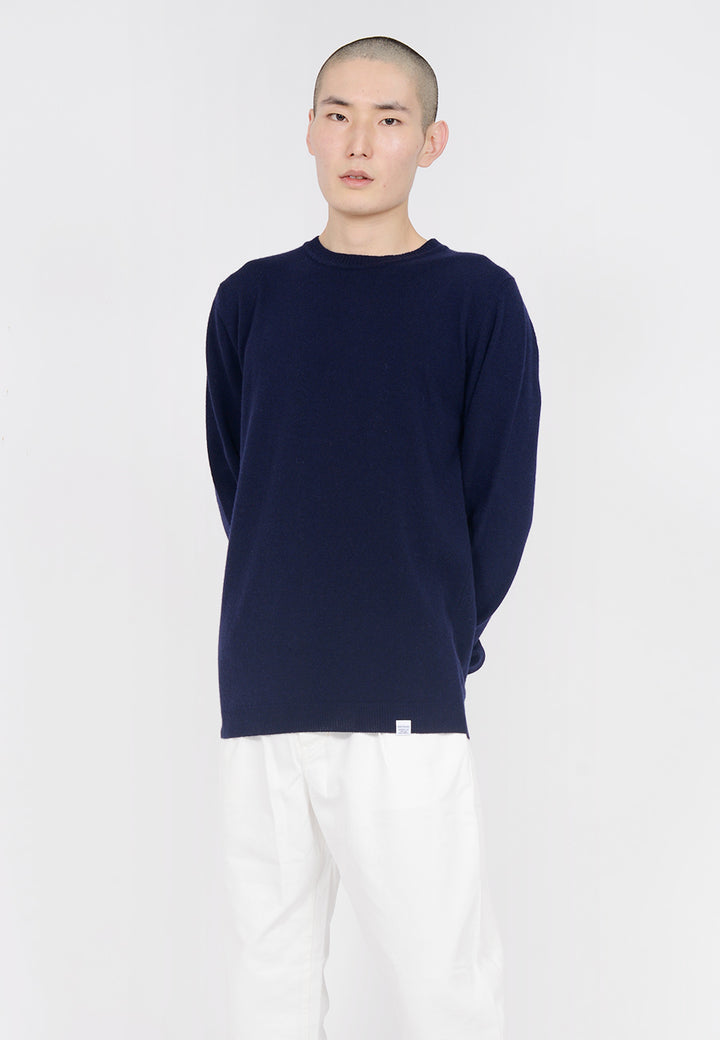 Norse Projects Sigfred Light Wool Sweater - dark navy — Good as Gold