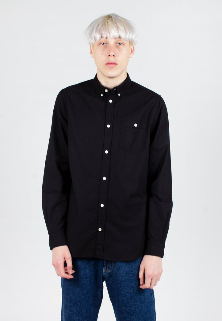 Anton Oxford Shirt - black