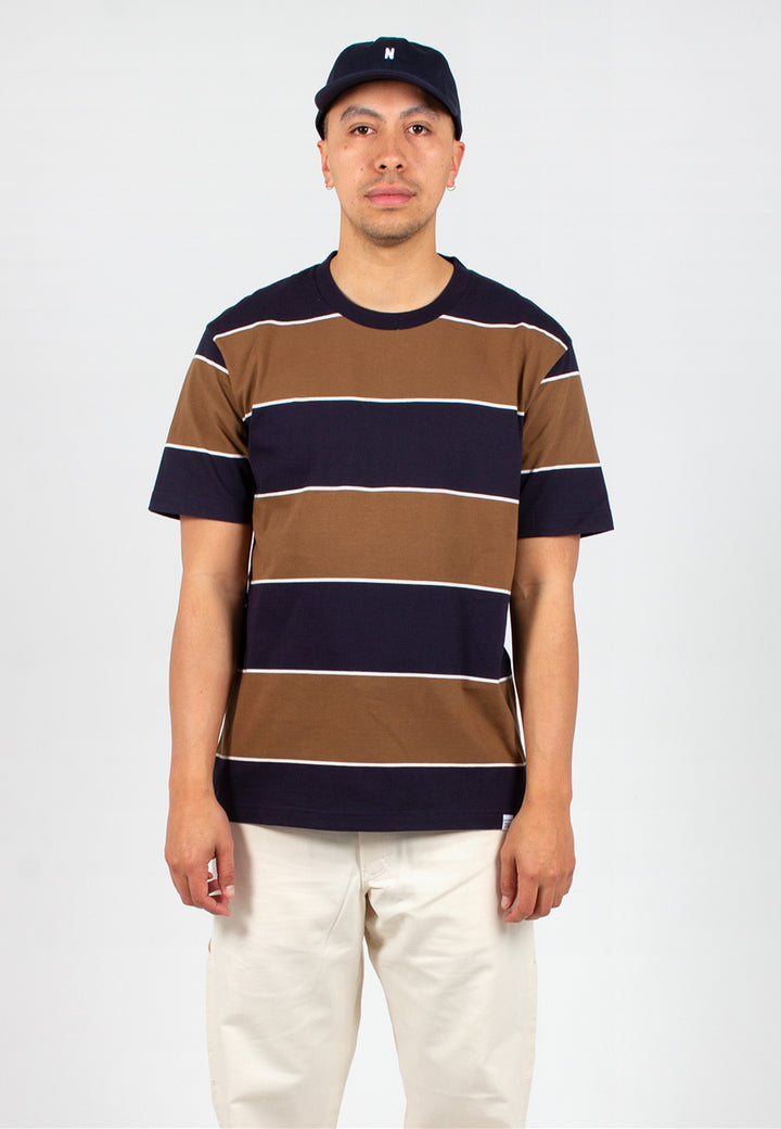 Norse Projects | Johannes 3 Stripe - russet | Good As Gold, NZ