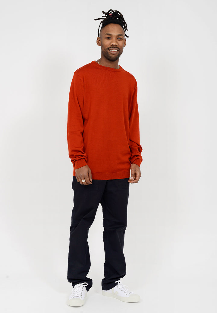 Sigfred Merino Sweater - oxide orange