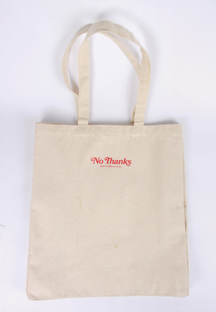 No Thanks Tote Bag - natural