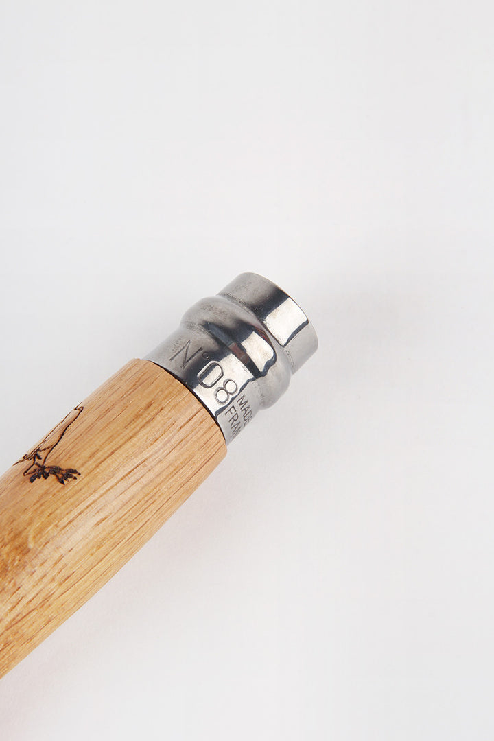 Opinel Engraved Animal Knife No.8 - deer/cerf oak | GOOD AS GOLD | NZ