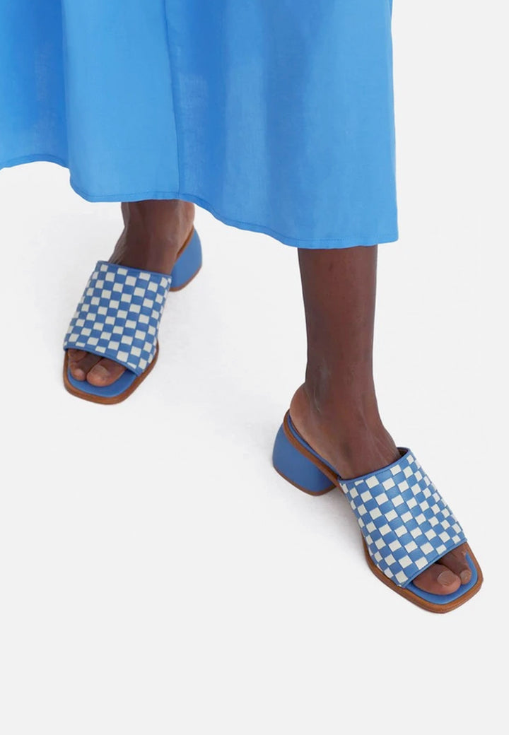 Chess Sandals - sky blue
