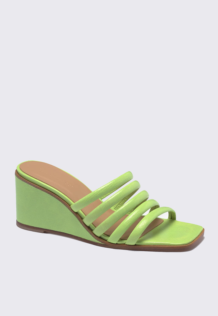 Magdalene Wedge - green fluor