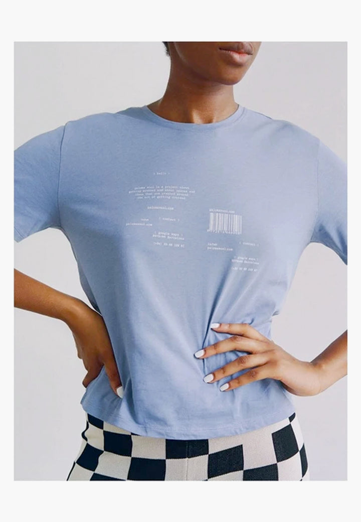 Souvenir Hello T-Shirt - light blue