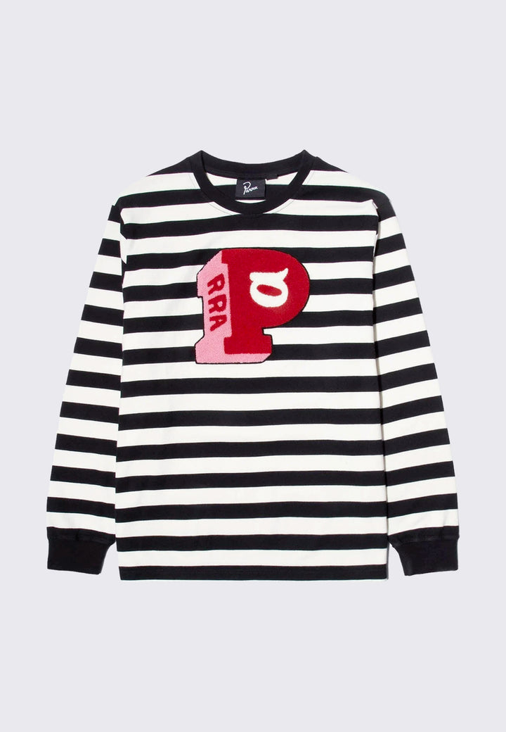 Block P Striped Long Sleeve T-shirt - black/white stripe