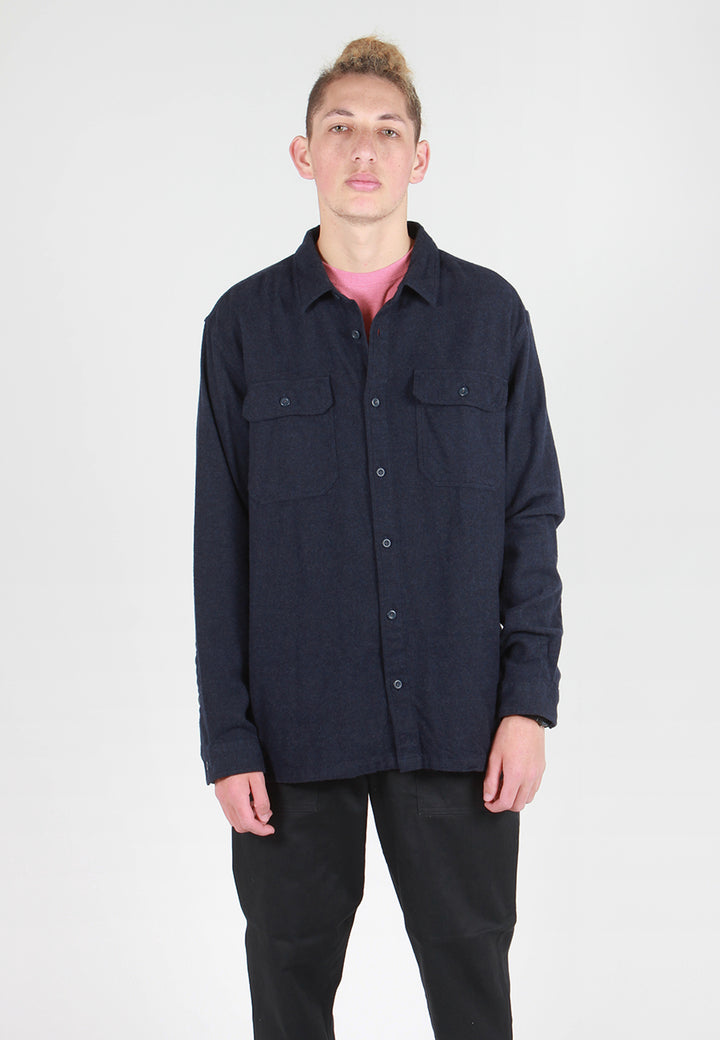 Patagonia Fjord Flannel Shirt - navy blue - Good As Gold