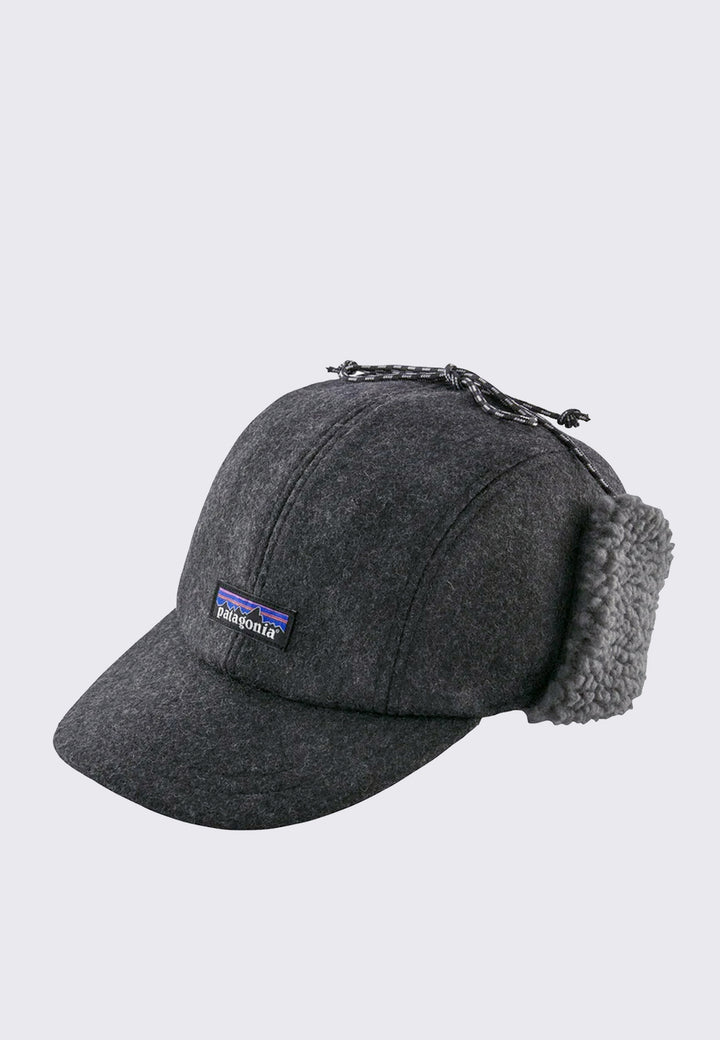 Recycled Wool Ear Flap Cap - forge grey