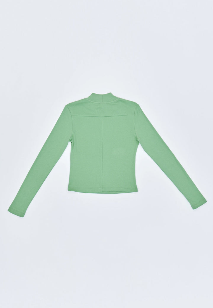 Novae Mush Rooms Ribbed Long Sleeve - pistachio