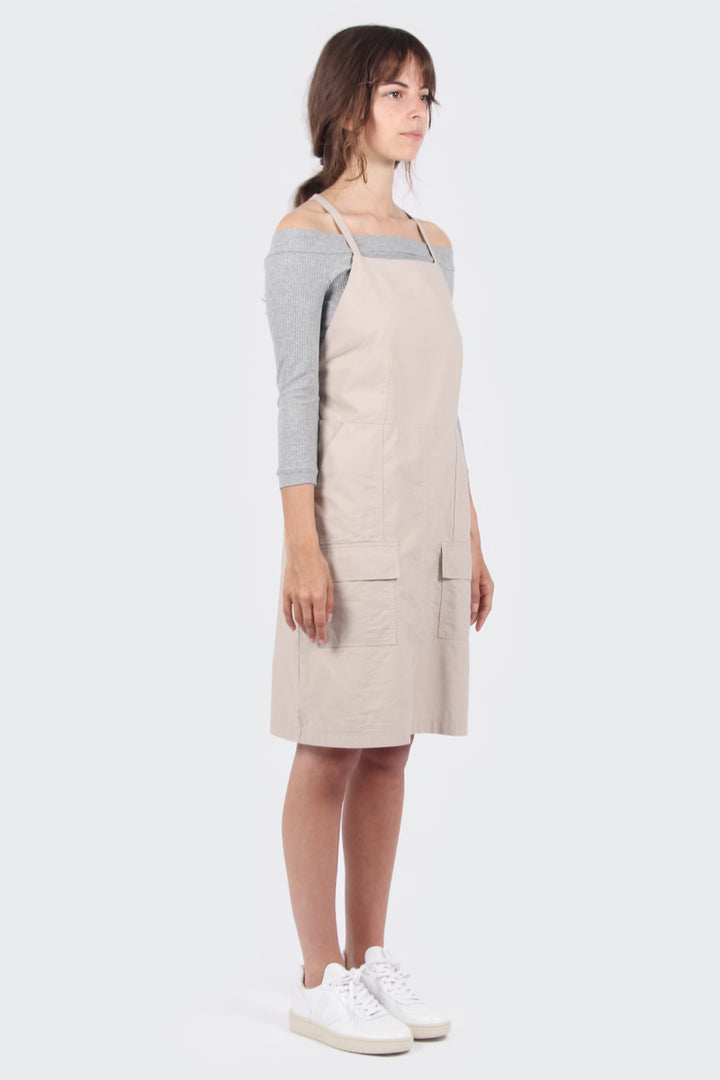 Permanent Vacation Clean Utility Dress - pale cream | GOOD AS GOLD | NZ
