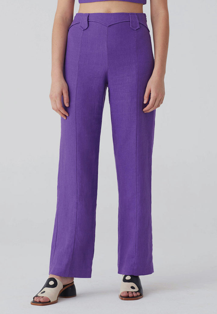 Dolar Pants - dark mauve