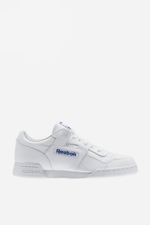 Reebok Workout Plus - white/royal — Good as Gold