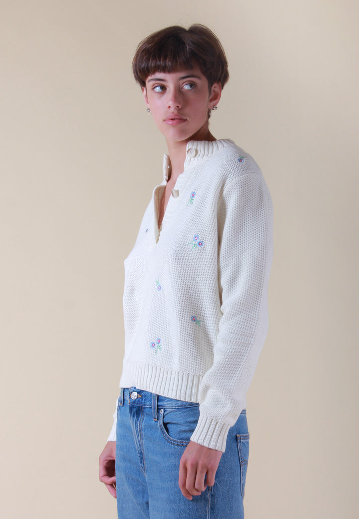 Dray Blouse Knit - broke white