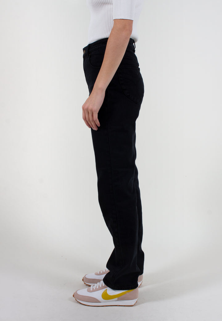 Original Straight Long Jeans - ash black