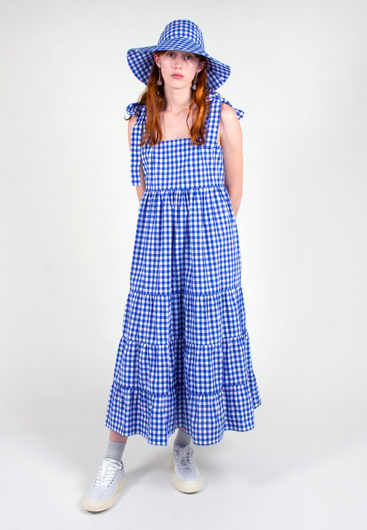 Slowlane | Brooke Dress - blue gingham | Good As Gold, NZ