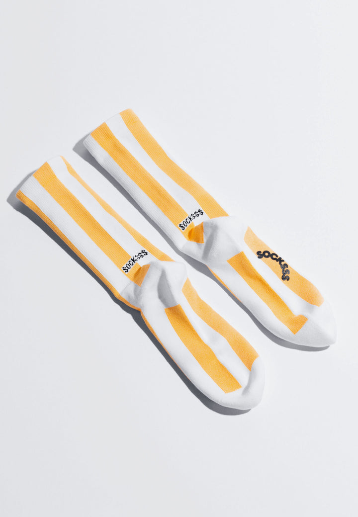 Tennis Stripe Socks - sunbeam