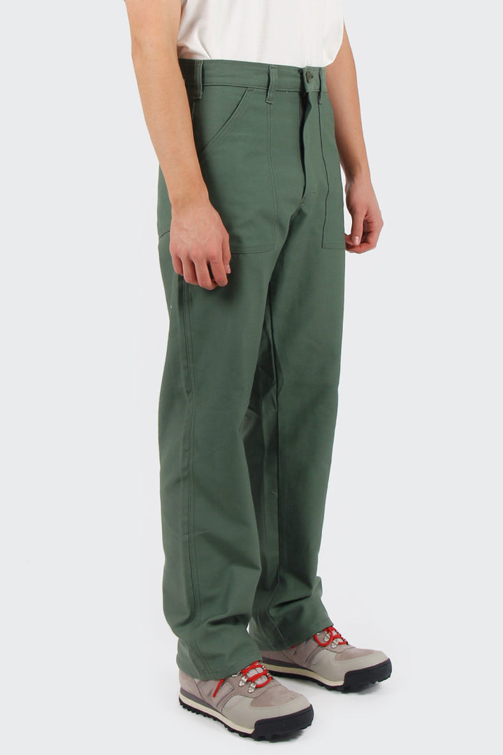 Stan Ray OG 4 Pocket Fatigue Pant - olive sateen | GOOD AS GOLD | NZ