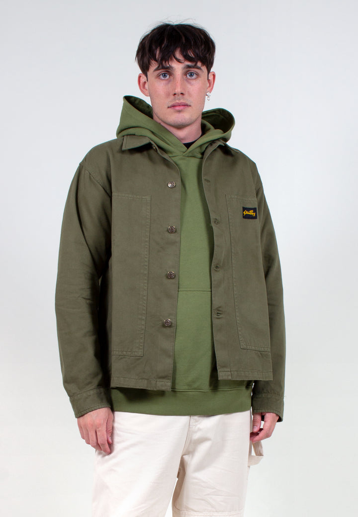 Box Jacket - olive OD natural