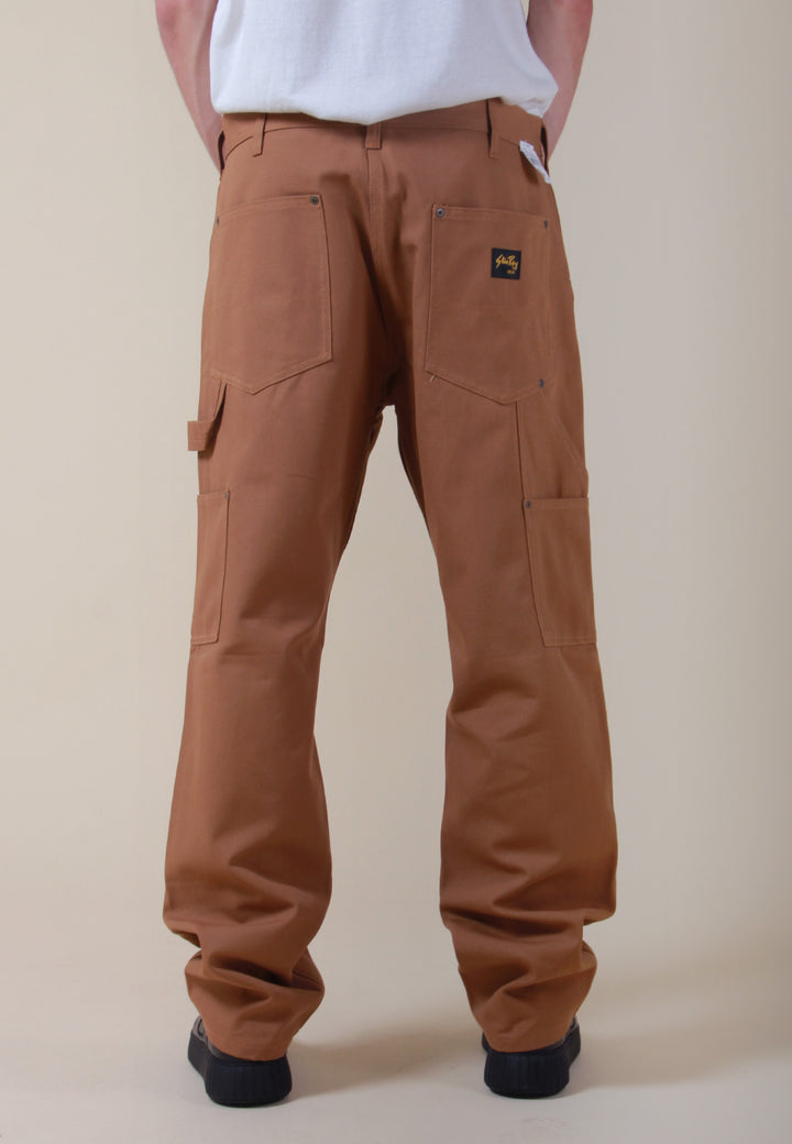 Double Knee Front Pant - brown duck