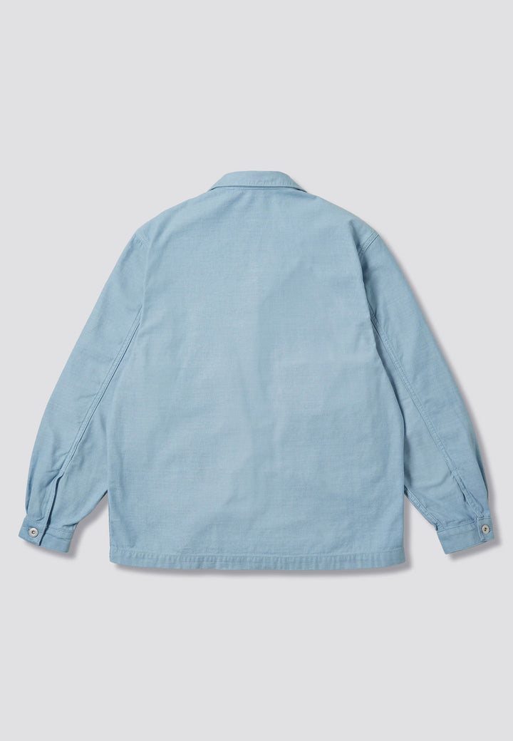 Painters Jacket - grey/blue sateen