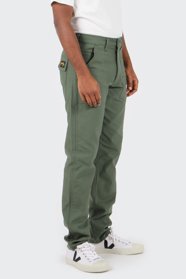 Stan Ray Taper Fit 4 Pocket Fatigue Pant - olive sateen | GOOD AS GOLD | NZ