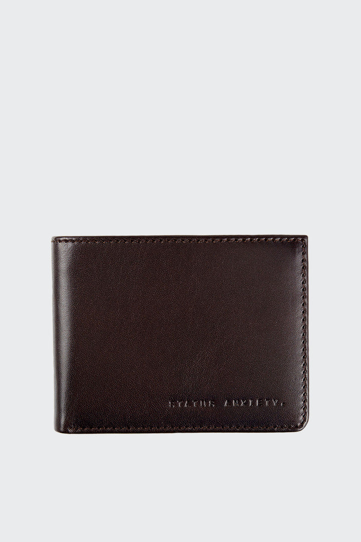 Status Anxiety Walter Wallet - chocolate | GOOD AS GOLD | NZ