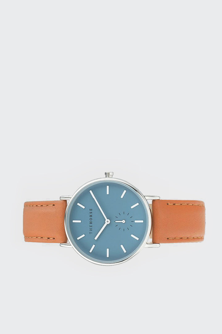 The Horse, Classic Watch - sea salt blue/tan leather | GOOD AS GOLD | NZ
