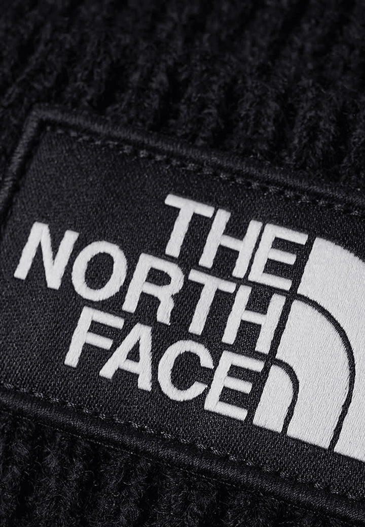 TNF Logo Box Cuff Beanie - black