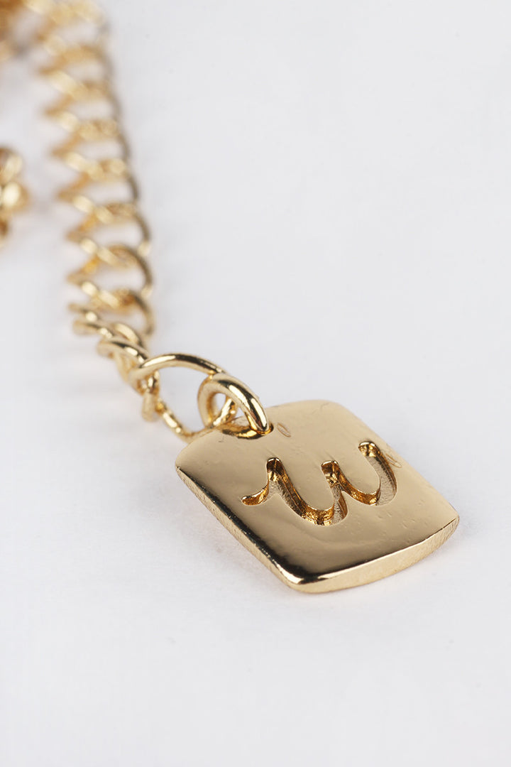 This Is Welcome, Not My Name Necklace - gold | GOOD AS GOLD | NZ